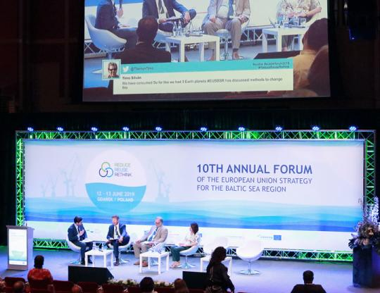 Panel discussion at EUSBSR Forum