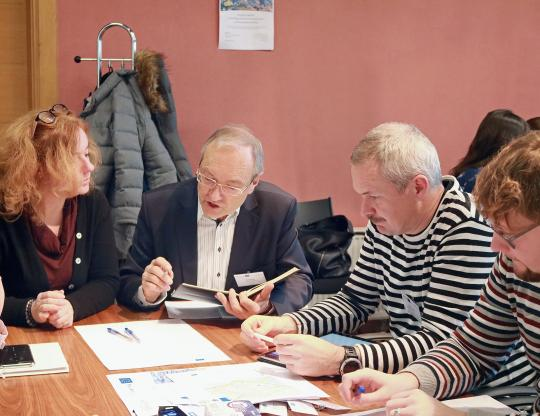 Group work with partners from Gdansk and Tartu.