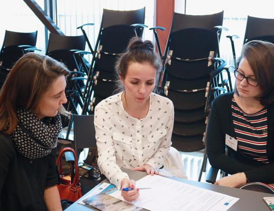 Group work with partners from St. Petersburg and representative of the Funding Programme.