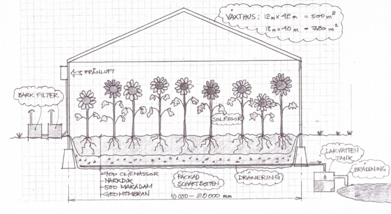 Scheme of a greenhouse